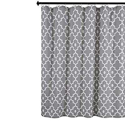 Biscaynebay Textured Fabric Shower Curtains, Morocco Pearl Prinetd Bathroom Curtains, Silver Grey 72 by 72 Inches - Printed polyester fabric is special woven, textured with slubs. Lights can get through partly, providing romantic atmosphere. 100% superior quality and Eco-friendly polyester, long life use. Suitable for families and upscale hotels. Made of 125gsm durable premium polyester fabric. - shower-curtains, bathroom-linens, bathroom - 51Ss0H%2BNzoL. SS400  -
