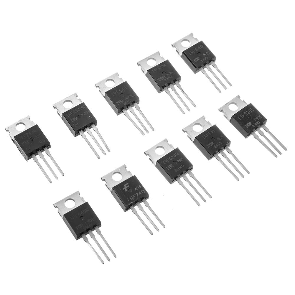 Bridgold 50pcs 10Types IRF Series Mosfet transistors