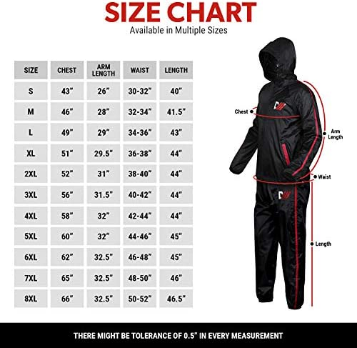 DMoose Sauna Suit for Men and Women, Sweat Suit for Weight Loss 2 Pc Set, Zipper Jacket Pant with Hood Full Body Gym Fit Wear, Anti-Rip Workout Suit Sports Running Cycling Yoga Pilates Boxing Anti-Rip 4