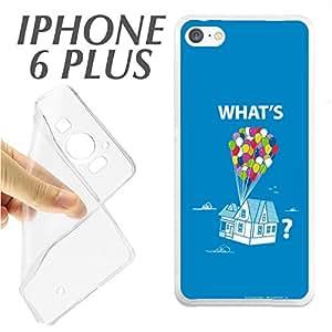 J230 IPHONE 6 PLUS 6+ CARCASA FUNDA TPU WHATS UP QUE PASA GLOBOS