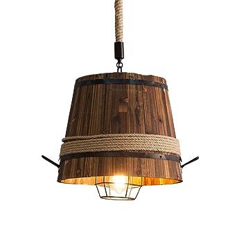 Kronleuchter Deckenbeleuchtung Bar Cafe Holzfass Industrielle Wind