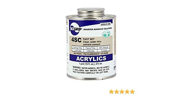 Weld-On #4SC Adhesive for Acrylic, Pint (16 oz )