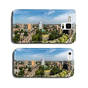 Aerial view of downtown Maputo cell phone cover case Samsung S6