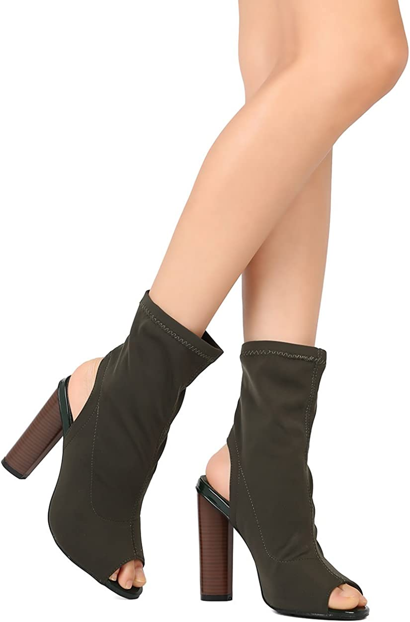 closed toe open back booties
