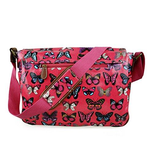 Plum Hand Bag Miss Shoulder Satchel Dots Floral Owl Cross Body Skull School Lulu Butterfly Oilcloth Polka HrwPnHZqR