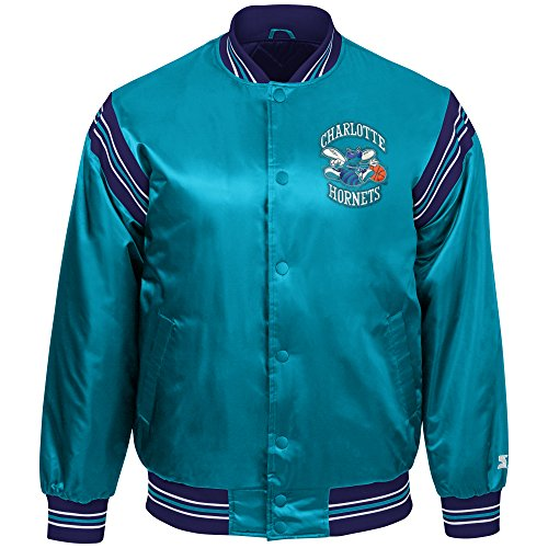 NBA Charlotte Hornets Youth Boys The Enforcer Retro Satin Jacket, Large, (Throwback Jersey Jacket)