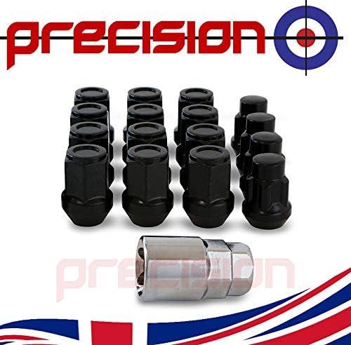 Precision 12 Black Chrome Alloy Wheel Nuts and 4 Locks for Ḿazda 2 Series PN.SFP-12NM10B+N10B2100