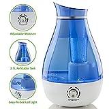 Ovente HMD625BL Ultrasonic Humidifier, Refillable Water Tank,...