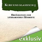 Erzählungen der literarischen Moderne (Kurz und klassisch 5) | Arthur Schnitzler,Joseph Roth,Franz Kafka,Rainer Maria Rilke,Stefan Zweig