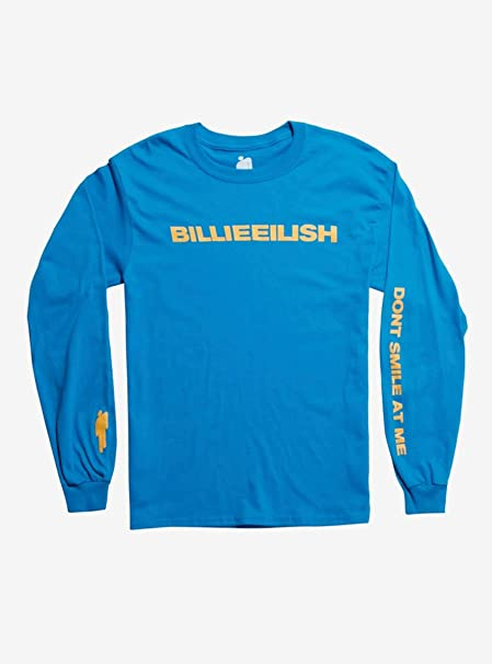 43338c9a676 Hot Topic Billie Eilish Blue Don t Smile at Me Long-Sleeve T-Shirt ...