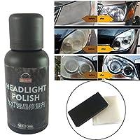 Headlight Restoration Polish Kit 30ML Ceramic Coating with Sponge + Towel