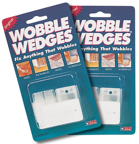 Wobble Wedges Leveling Shims, Set of 12 (Plastic Shims Toilet)