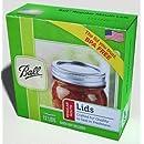 Ball Regular Mouth Size Canning or Mason Jar Lids, 8 dozen or 96 lids total