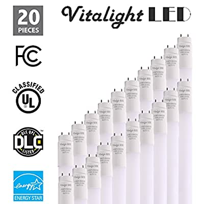 PLUG AND PLAY - T8 LED Light Tube, 4FT, 18W (40W Replacement), 5000K and 4000K, 2400lm, Frosted Cover, Dual-End & Single-End Powered, Works with/without ballast, Shatterproof, UL & DLC