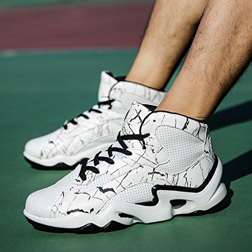 Frühling Herbst Herren Sportschuhe Leichte Laufschuhe Rutschfeste Dämpfung Basketballschuhe Low-Top Sneakers 38-43 Weiß