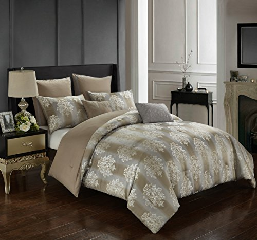 Pop Shop Ombree Floral 7-Piecee Comforter Set, Full/Queen