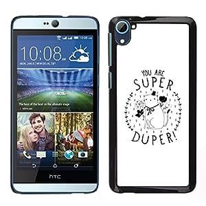 LECELL--Funda protectora / Cubierta / Piel For HTC Desire D826 -- Usted está Gatito super minimalista del regalo del amor --