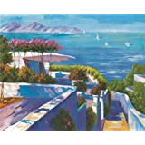'View of the Mediterranean Villa and the Sea' oil painting, 10x12 inch / 25x32 cm ,printed on Perfect effect Canvas ,this Reproductions Art Decorative Prints on Canvas is perfectly suitalbe for Kitchen artwork and Home decoration and Gifts
