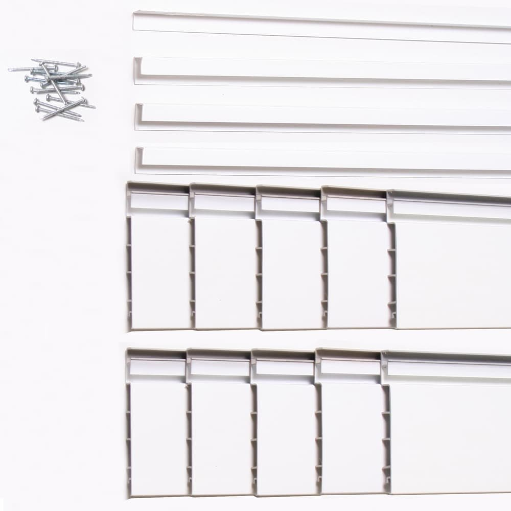Proslat White 16 square foot Heavy Duty Slatwall Organizer Panel by Proslat (Image #3)