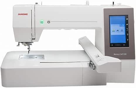 Janome MC 550E - Máquina de coser (incluye 4 marcos de barra ...