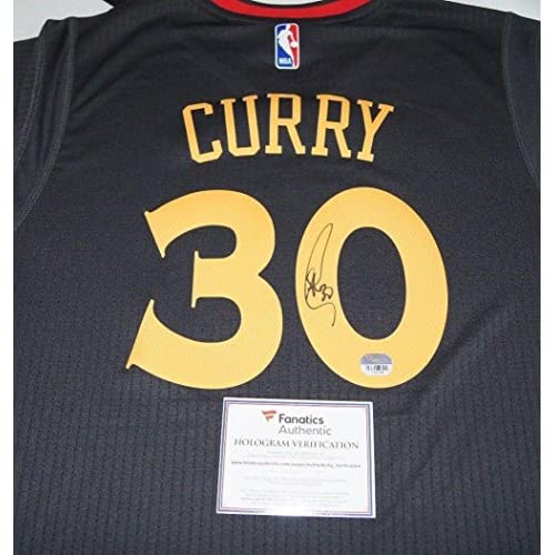detailed look bfac8 502e0 Autographed Stephen Curry Jersey - Chinese New Year Fanatics ...