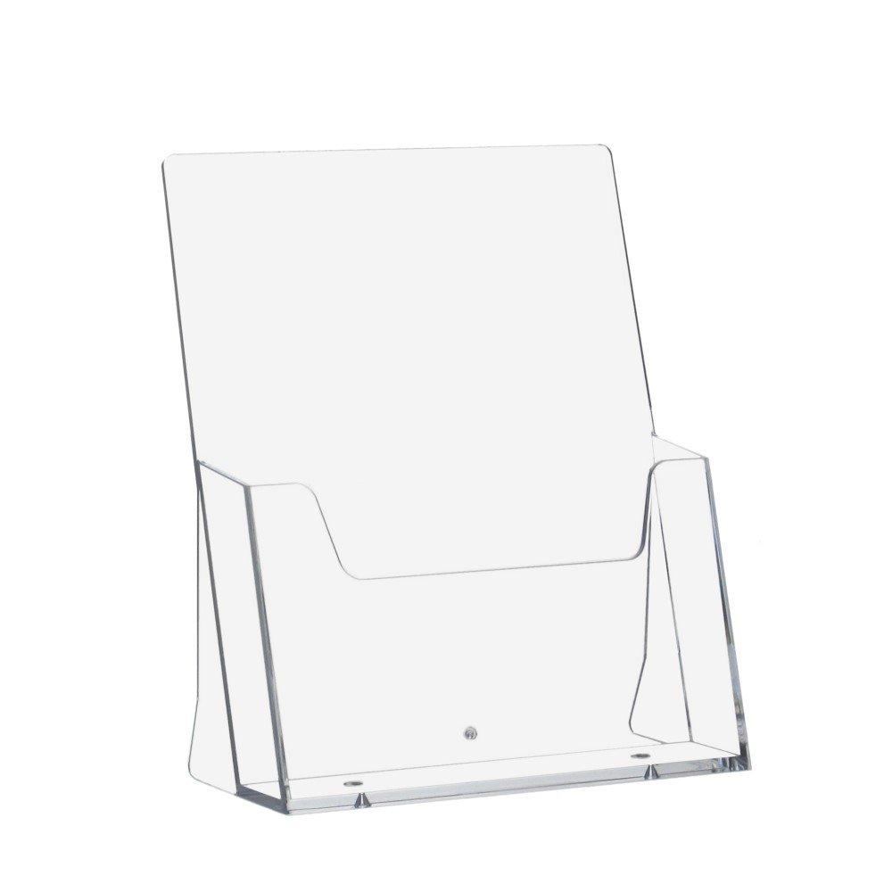 5pezzi DIN A5depliants supporto/Porta-dépliant da tavolo/espositore da tavolo in formato verticale trasparente Unbekannt A016-5