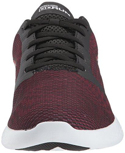Skechers Mens Go Run 600-55068 Sneaker Nero / Rosso
