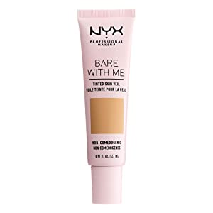 NYX PROFESSIONAL MAKEUP Bare with Me Tinted Skin Veil, Beige Camel, 0.9 Fluid Ounce