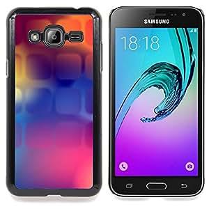 Stuss Case / Funda Carcasa protectora - Púrpura Naranja Púrpura Polígono - Samsung Galaxy J3 GSM-J300