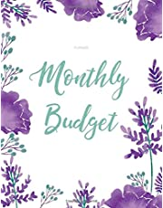 Monthly Budget Planner: Weekly & Monthly Expense Tracker Organizer,Budget Planner and Financial Planner Workbook ( Bill Tracker,Expense Tracker,Home Budget book / Extra Large ) Purple Flower Cover