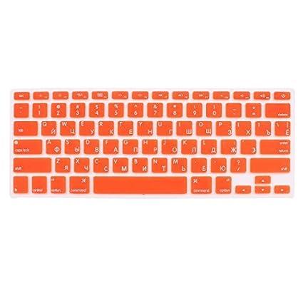 Amazon.com: DealMux Russian Keyboard Skin Cover Orange dos EUA para o Macbook Air 13 15 17 polegadas: Electronics