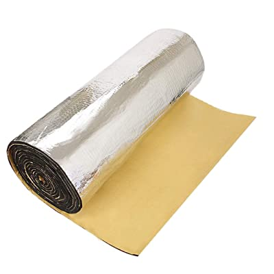 "uxcell 394mil 10mm 10.76sqft Car Auto Heat Sound Noise Dampener Deadener Insulation Hood Door Underlay Mat 40""x40"" -Intensive Aluminum Foil Face: Automotive"