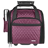 Travelon Wheeled Underseat Carry-On Bag 14'' - eBags Exclusive Colors (Berry