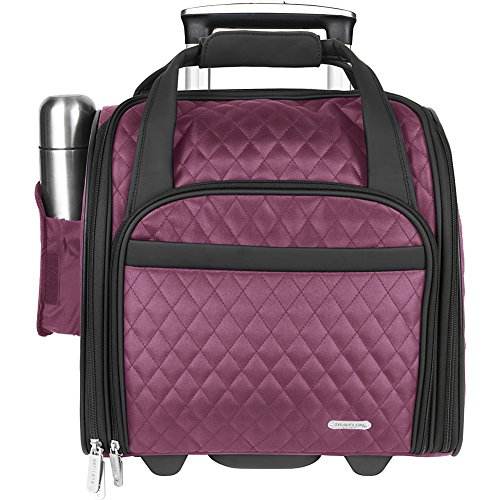 Travelon Wheeled Underseat Carry-On Bag 14'' - eBags Exclusive (Berry - Exclusive by Travelon