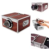 DIY Home Portable Cardboard Film Theater Cinema Mini Projectors Gift For Android/ios Smart Phone