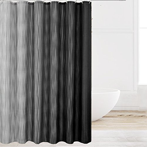 grey ombre shower curtain - 2