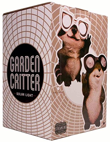 Streamline STREAMBGD331 Raccoon Solar Light Critter
