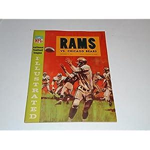 1964 CHICAGO BEARS AT LOS ANGELES RAMS NFL FOOTBALL PROGRAM EX