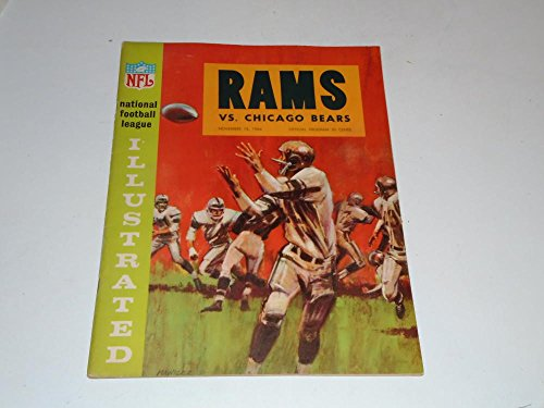1964 CHICAGO BEARS AT LOS ANGELES RAMS NFL FOOTBALL PROGRAM EX