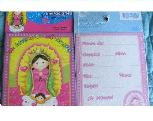 VIRGENCITA GUADALUPE Party Baptism FAVOR Birthday INVITATIONS x18 Lupita Fiesta