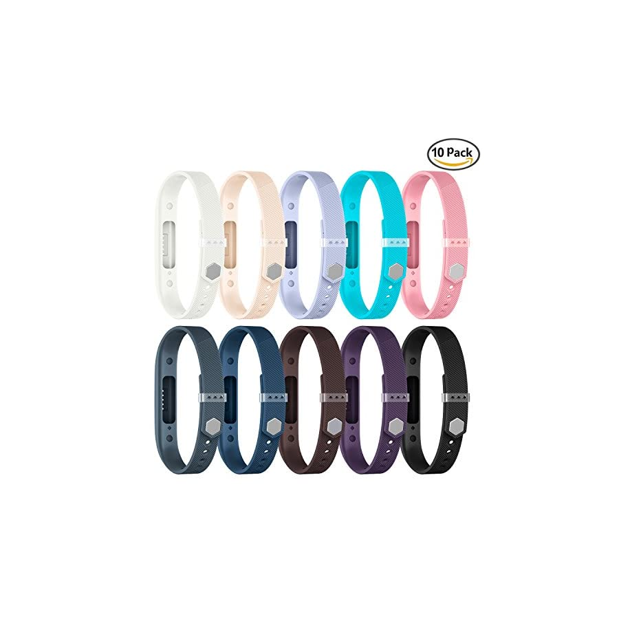 GreenInsync Compatible Fitbit Flex 2 Bands,Replacement for Flex 2 Sport Accessories Bracelet Band Strap Soft Silicone W/Fastener Clasp for Fitbit Flex 2 Watch, Adjustable Wrist Band for Small Large