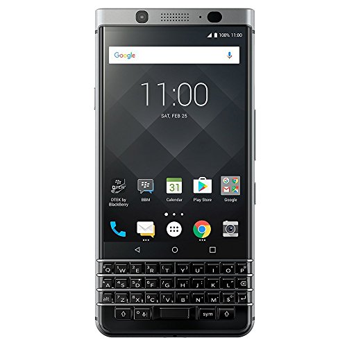 BlackBerry KEYone (32GB) 4G LTE GSM Global Unlocked Android Smartphone (US Warranty) Silver by BlackBerry