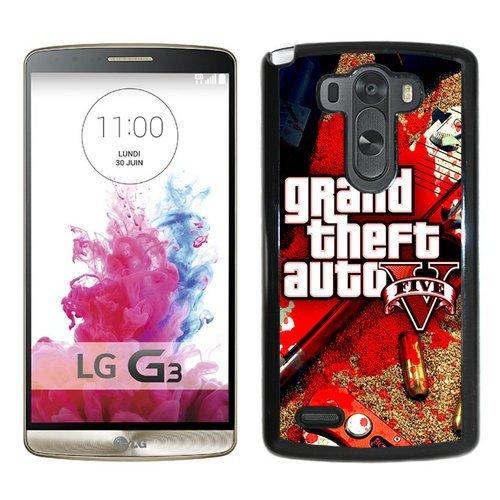 LG G3 Case,Grand Theft Auto V 2 Black LG G3 Shell Phone Case,Luxury Cover