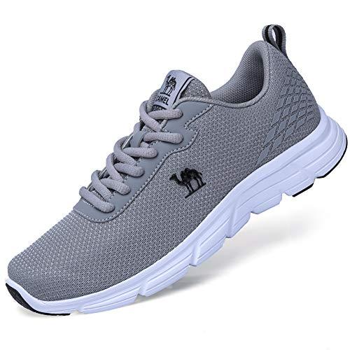 打倒剃る個人的なCAMEL CROWN 靴 メンズ ランニングシューズ スニーカー スポーツ軽量 ジョギングシューズ ジム メッシュ 通気性 滑り止め 旅行 運動靴