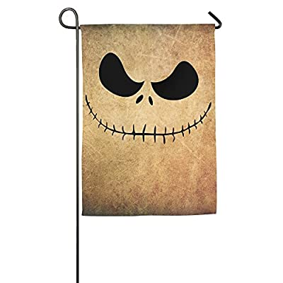 Personalized Decorative Welcome Polyester House Flags Printed Jack Skellington Face Christmas Nightmare Flag For Indoor/Outdoor With Two Size - 12 18 Or 18 27 Inch