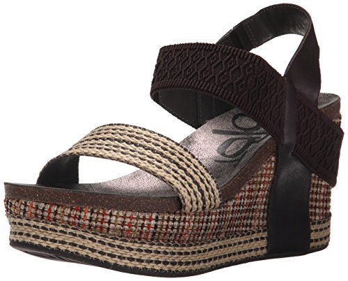 Brown Wedge Fabric Otbt Dark Bushnell Sandal Women's qOZxXZ7