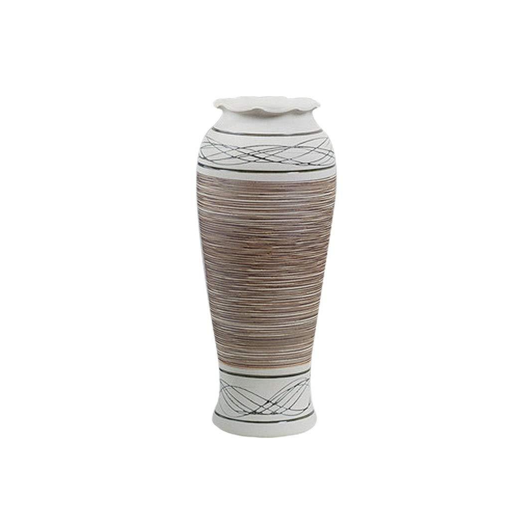 MAHONGQING セラミック花瓶ホームリビングルームクリエイティブフラワーアレンジメントモダンミニマリスト装飾 B07T23J1KF