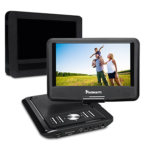 NAVISKAUTO 9 Inch Portable DVD/CD/MP3 Player USB/SD Card