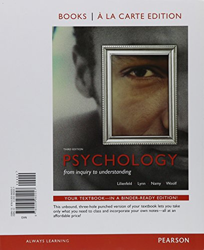 Psychology: From Inquiry to Understanding, Books a la Carte Edition, NEW MyLab Psychology with eText and Access Cardand