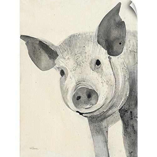 CANVAS ON DEMAND Oink Wall Peel Art Print, 36